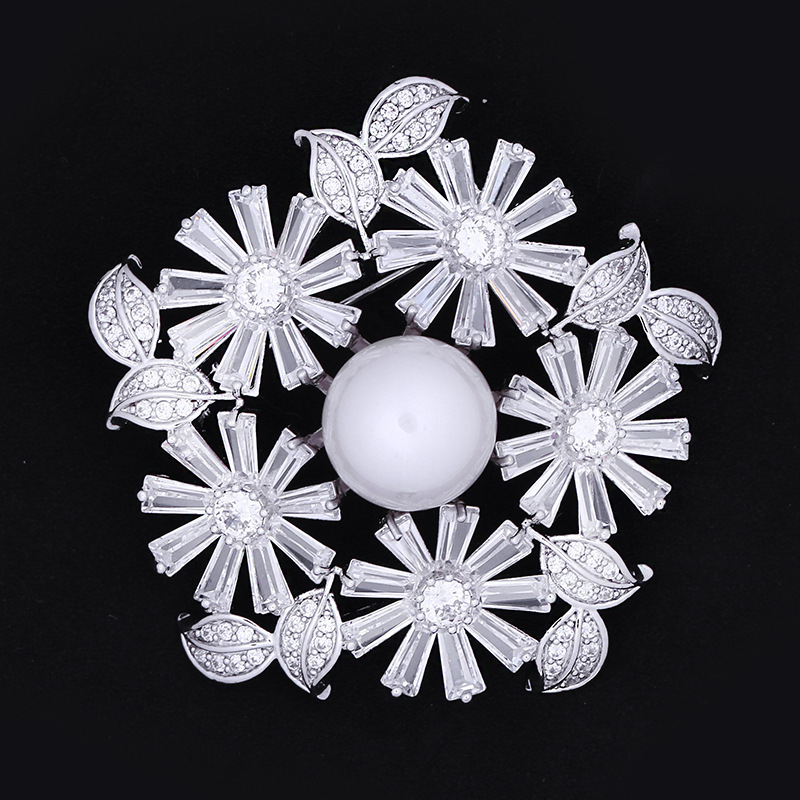 Snowflake Flower Brooch for Scarves and Sweaters