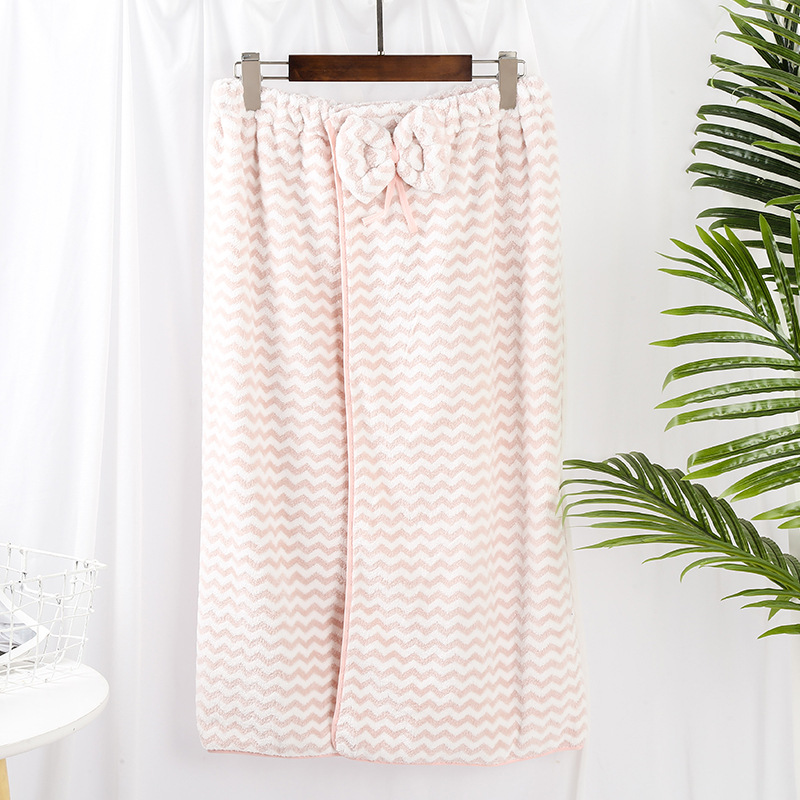 Creative Zigzag Thick Bath Towel for Adult Use