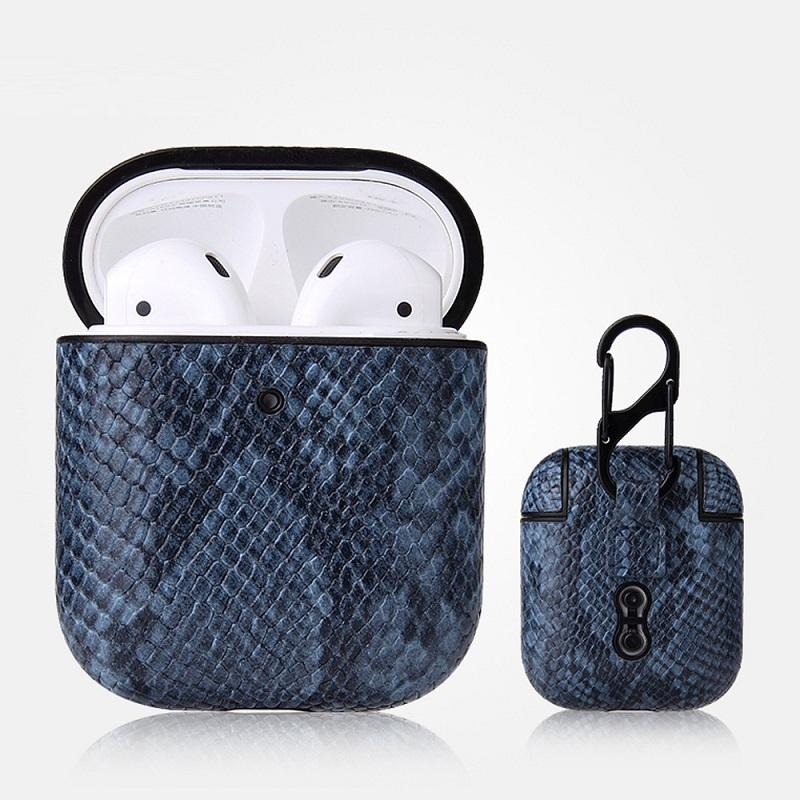 Textured Faux Leather AirPods Case for Simple Accessory