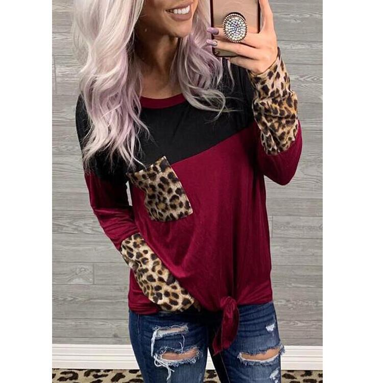 Multi-Patterned Tie Front Top for Attending Casual Parties