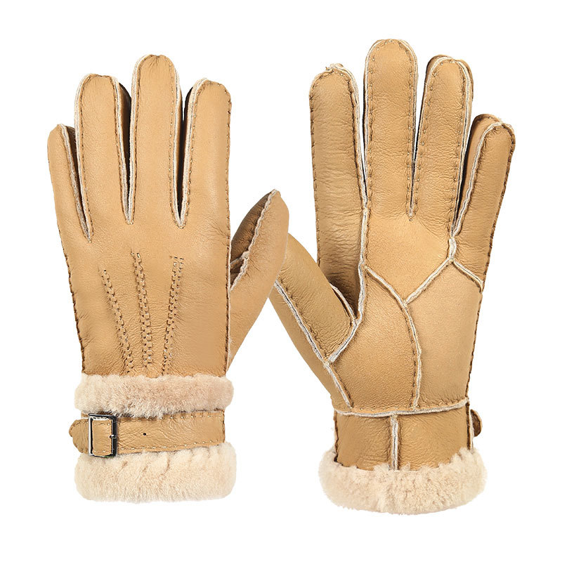 Durable Leather Warm Gloves for Winter and Autumn Season