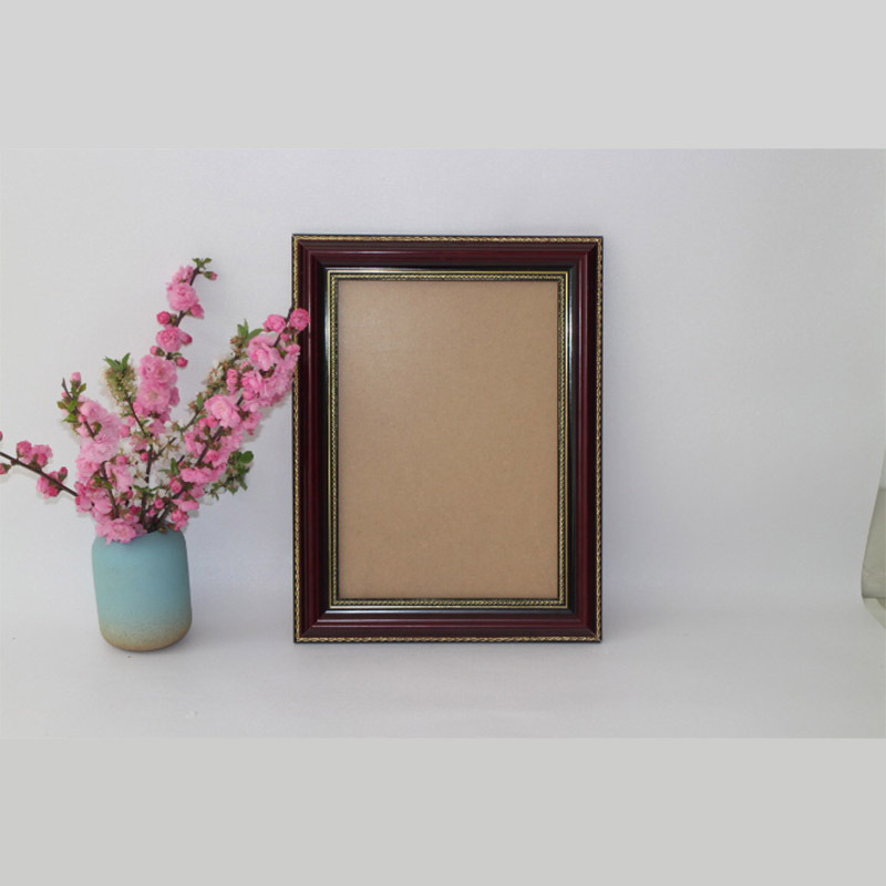 Retro Solid Wood Brown Hanging  Empty Photo Frame for Home