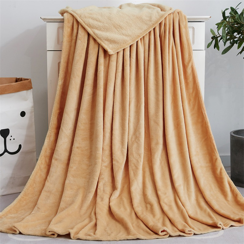 Thick Bamboo Fiber Colored Blankets for Bedrooms