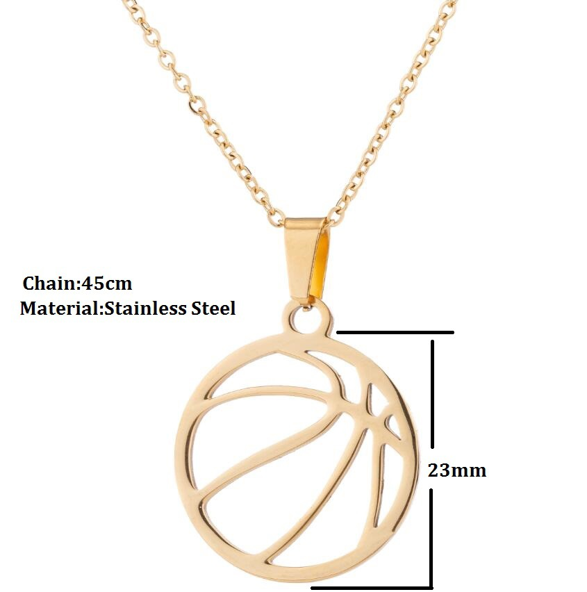 Sporty Basketball Pendant Necklace for Sports Enthusiasts