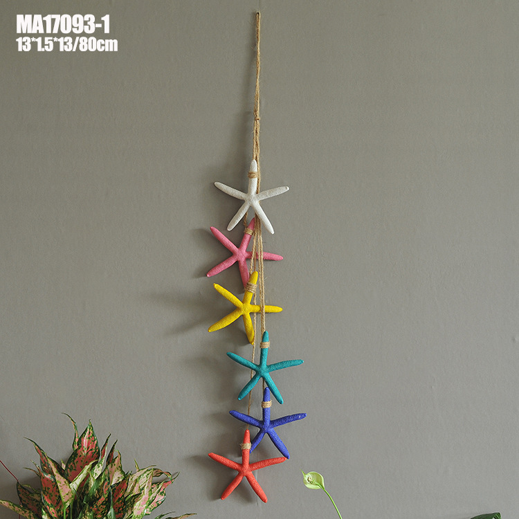 Nautical Starfish Party Decor Made of Natural Resin and Natural Hemp Rope for Luau Parties