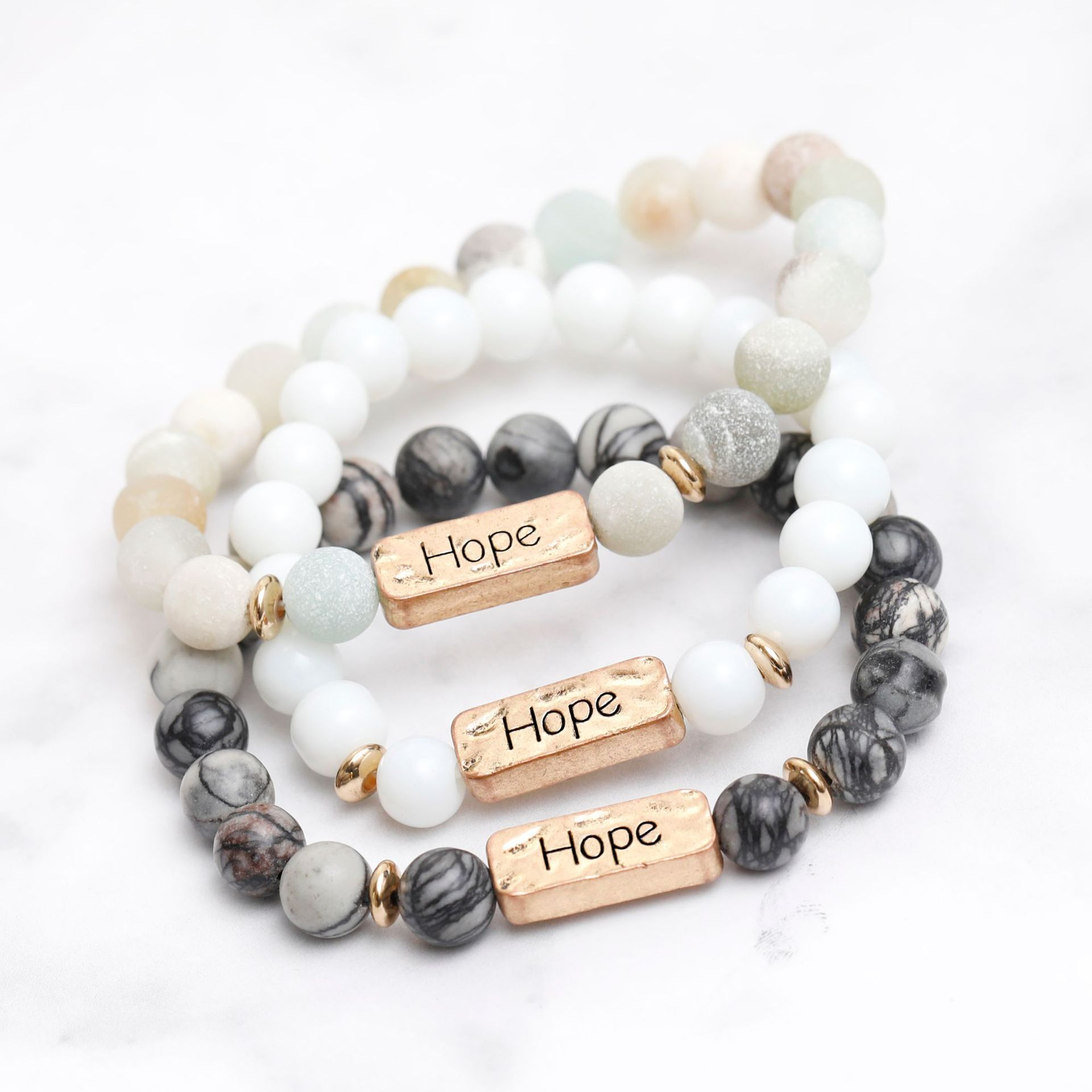 Hope Affirmation Bead Bracelet