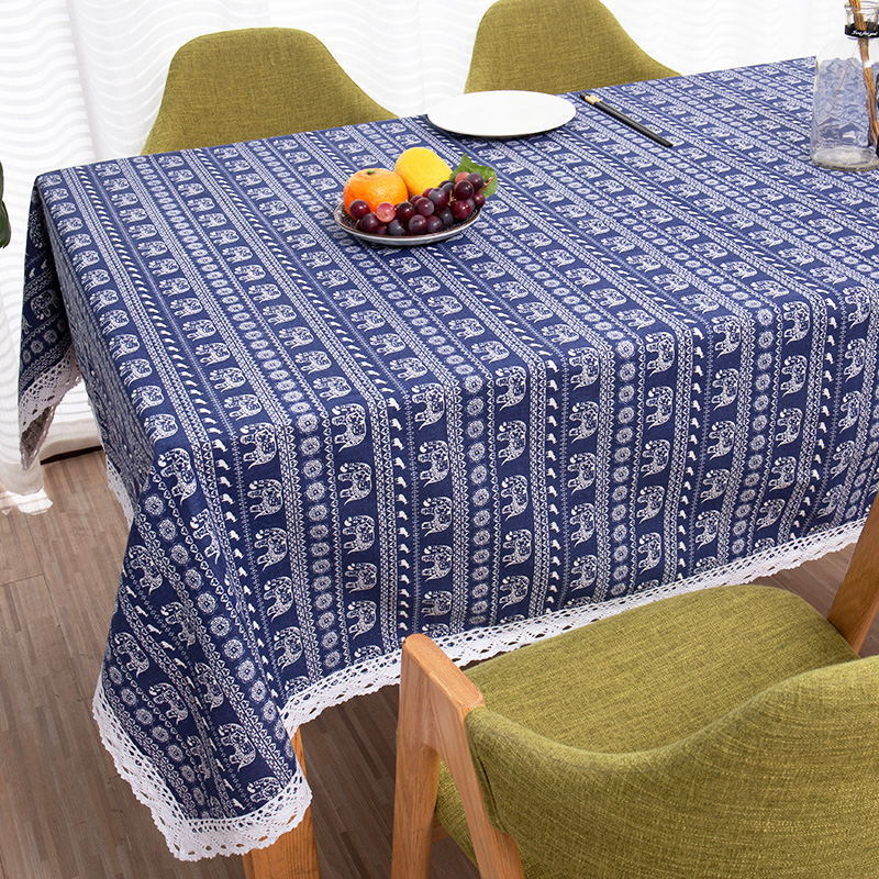 Aztec Style Cotton And Linen Tablecloth for Household Tables