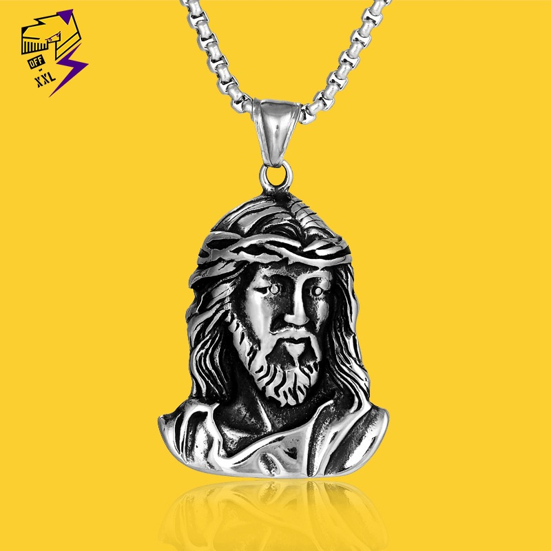 Titanium Steel Jesus Necklace for Fashionable Outfit
