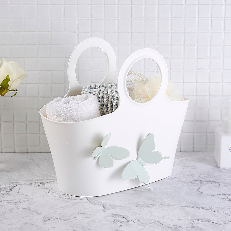 Multipurpose Toiletries Basket with Butterfly Design for Bathroom Essentials