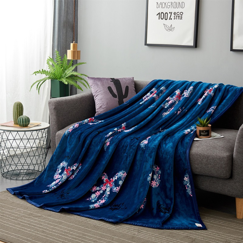 Thick Velvety Flannel Blanket for Warmth On a Cold Night