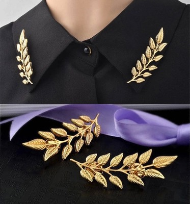 Stylish Wheat Leaf Brooch for Themed Events