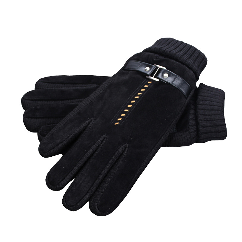 Warm Faux Leather Gloves