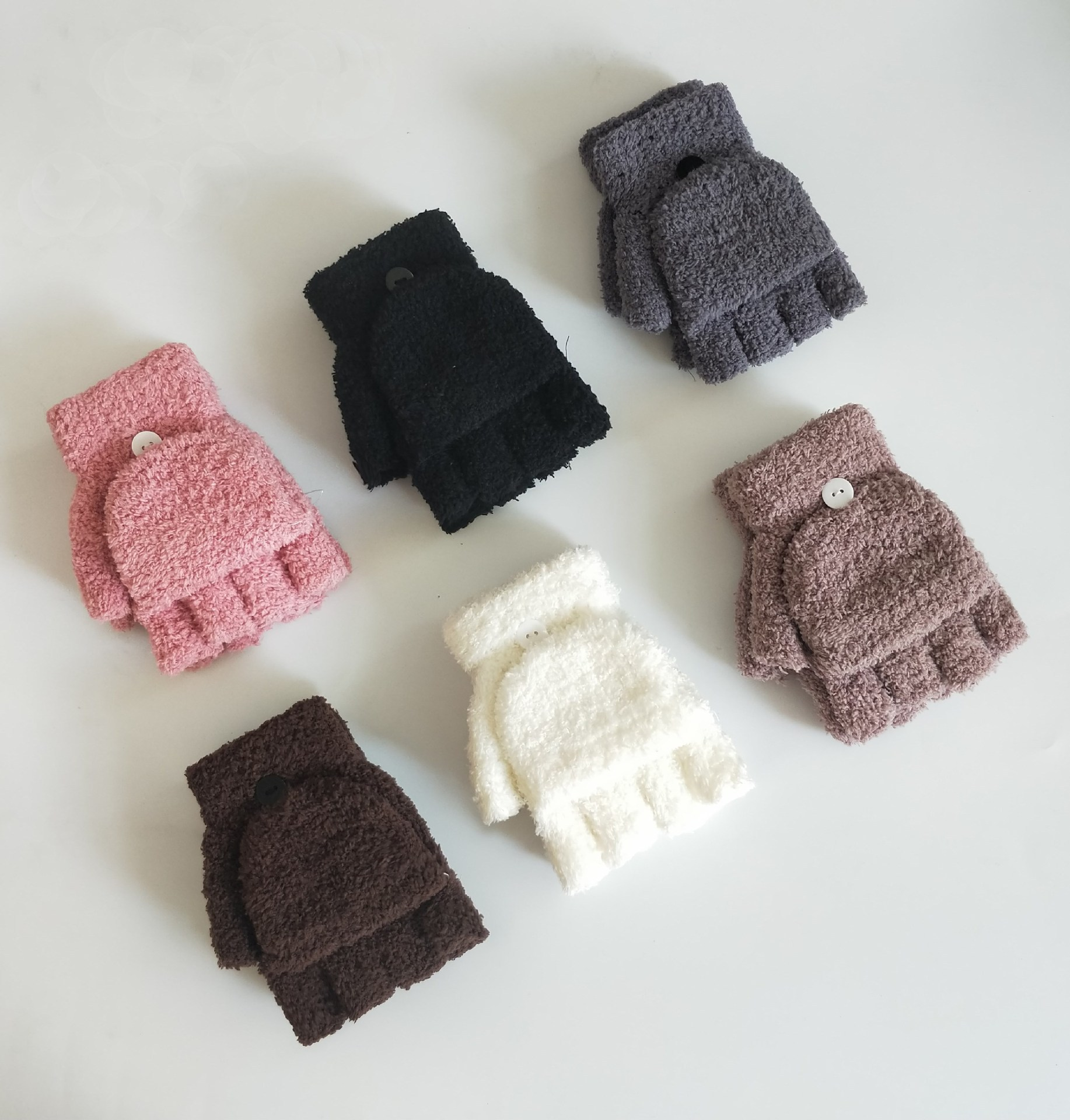 Cute and Warm Half-Finger Coral Fleece for Winter Wear