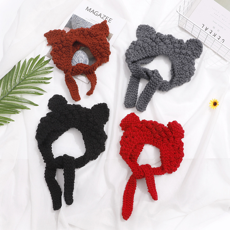 Knitted Infants' Headband with Earmuff