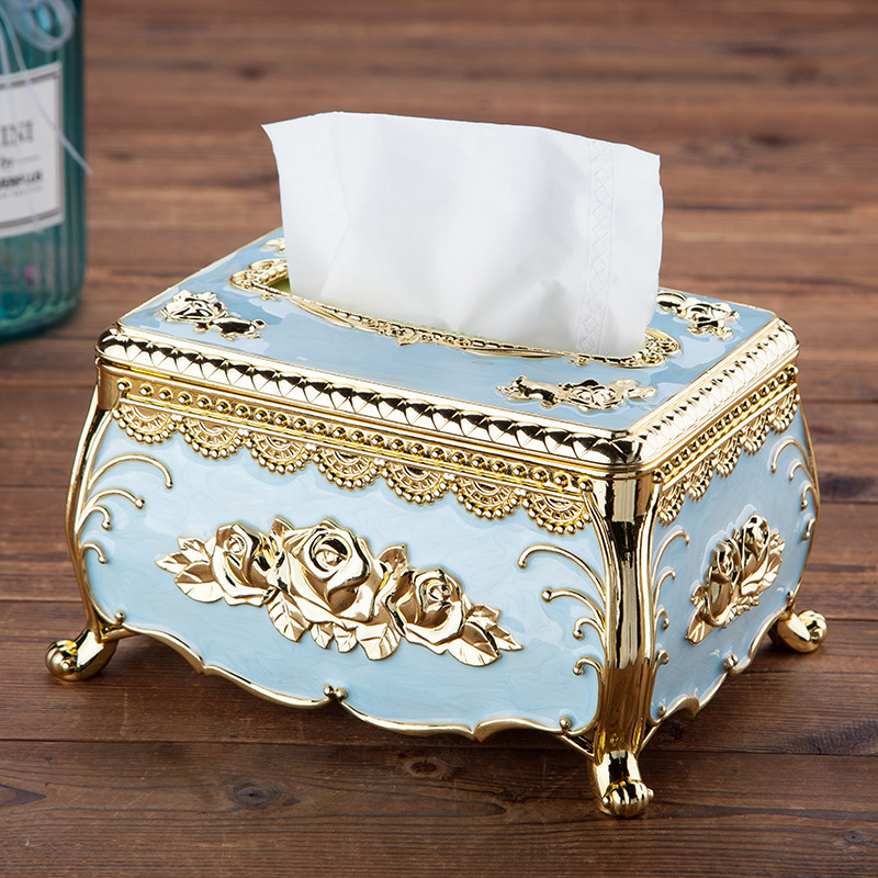 Elegant Rose Metal Tissue Box Cover for Expensive Look