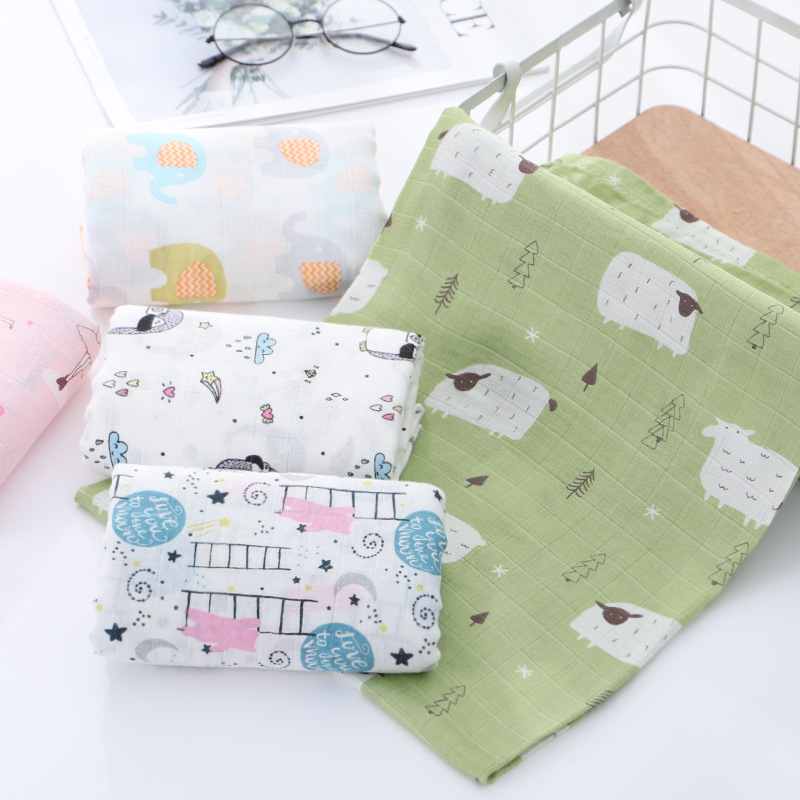 Adorable Bamboo Cotton Blankets for Cute Babies