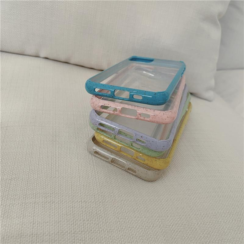 Transparent with Colored Border iPhone Case