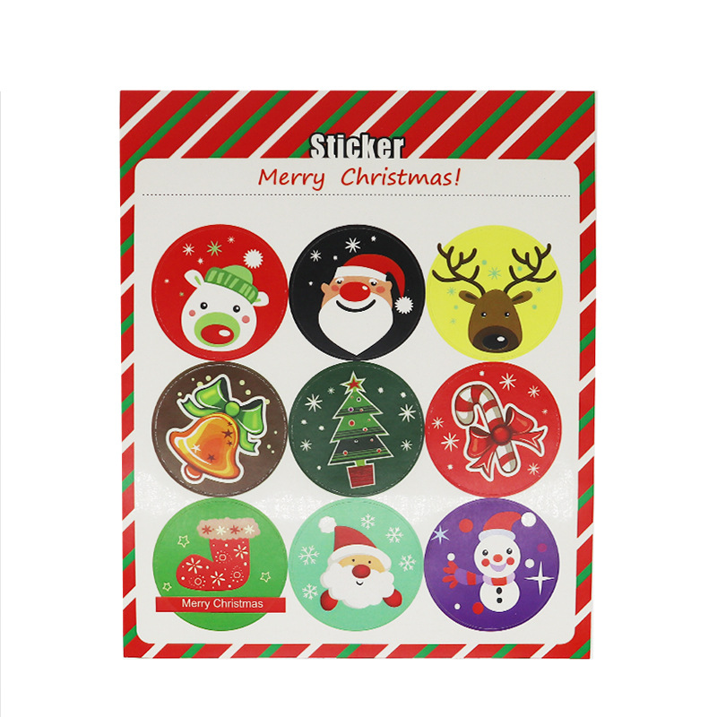 Lovely Round Christmas Stickers for Wonderful Christmas Gifts