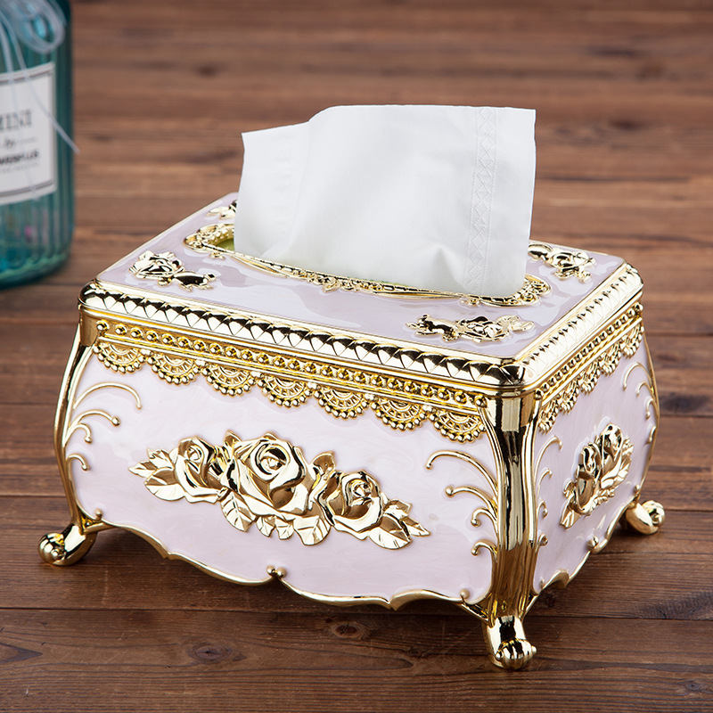 Classic Style Cartridge Tissue Box for Home Decoration