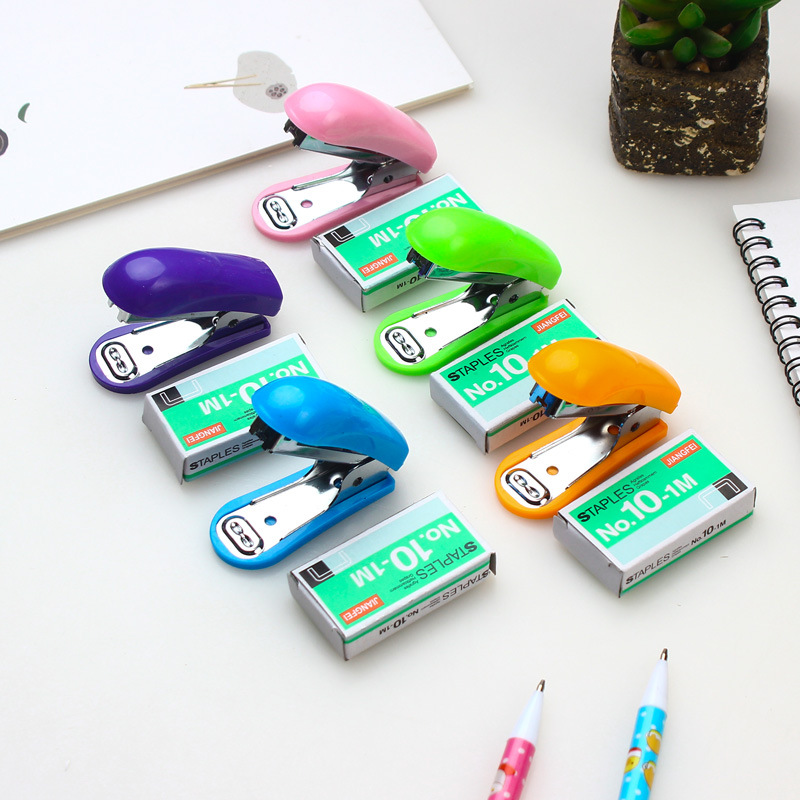 Solid-Colored Mini Stapler for Fastening Important Papers