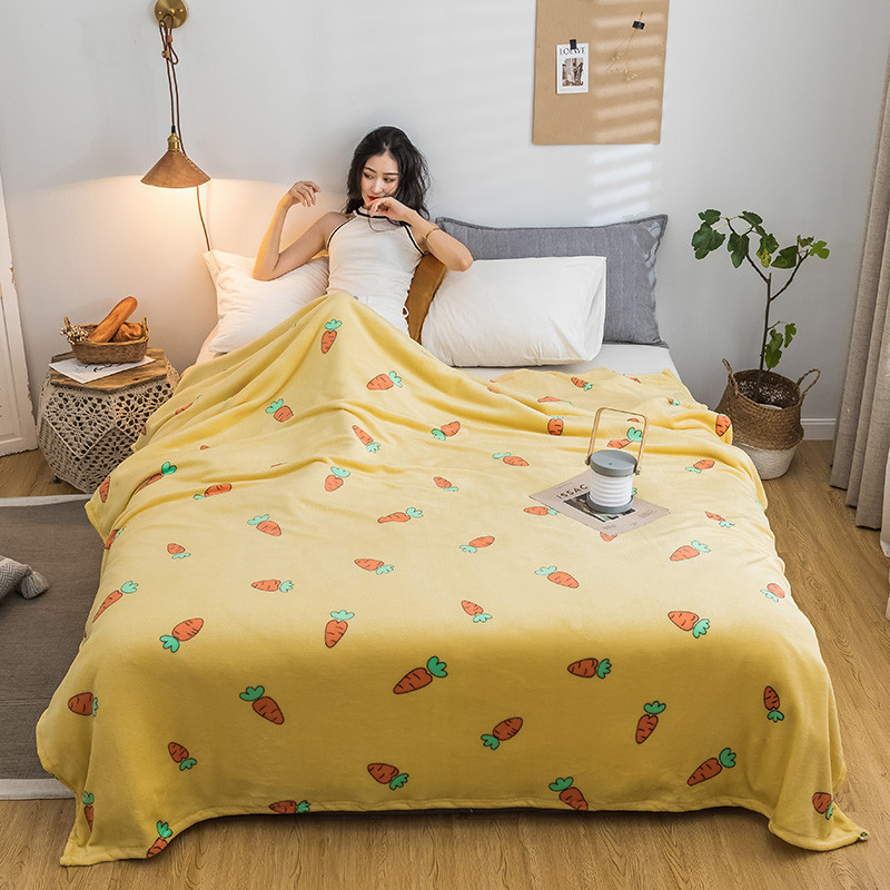 Lovely Warm Sheet Flannel Blanket for Cold Nights