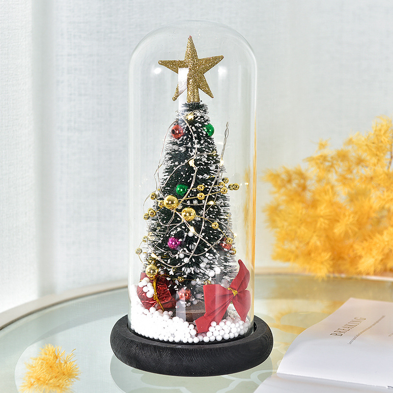 Innovative Christmas Tree with Glass Cover for Holiday Season