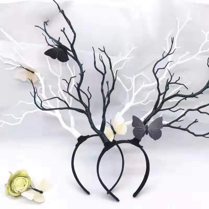 Oversized Branch with Butterflies Headband