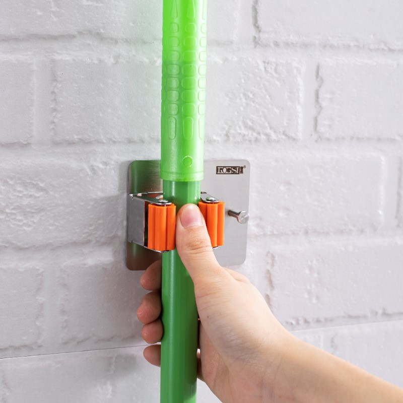 Stainless Steel Mop Hook for Neat and Arranged Bathroom