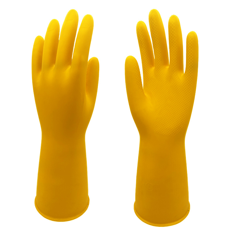 Strong Yellow Latex Gloves for Heavy Chores