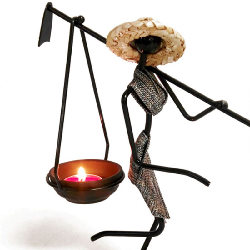 Exquisite Iron Candle Holder for Aesthetic Living Room