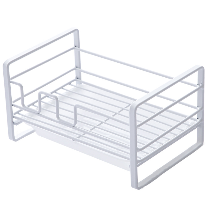 Clean White Iron Wire Rack for Easy Draining of Wet Items