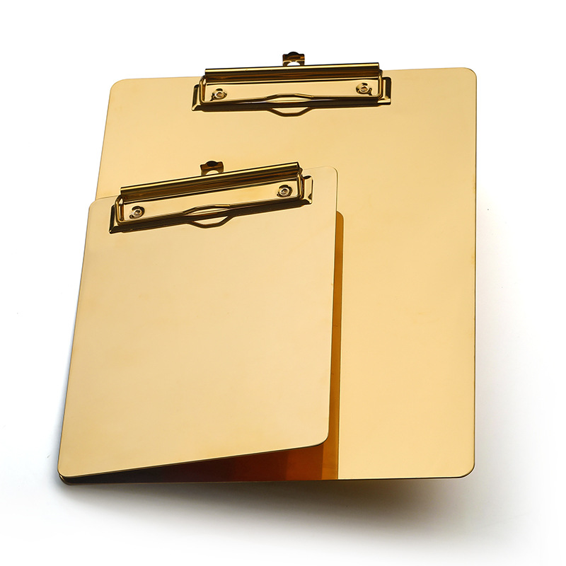 Midas Stainless Steel Multi-Sized Clipboards