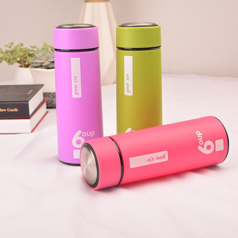 Bright Double-Layered Anti-Drop Water Bottle for School and Office Hydration