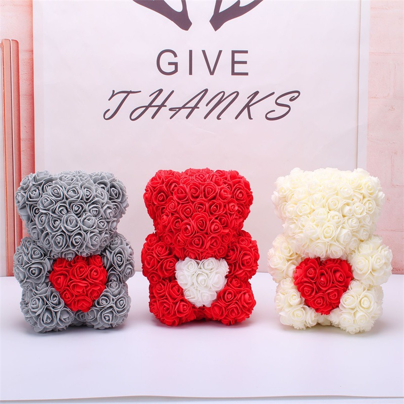 Sweet Rose Bear for Gifts