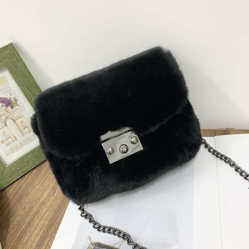 Mink Fur Clutch Purse
