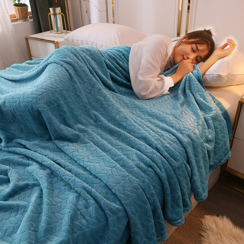 Soft Single Layer Wool Blanket for Warmer Temperature