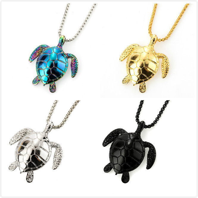 Fashionable Artistic Style Turtle Titanium Steel Necklace for Men and Women