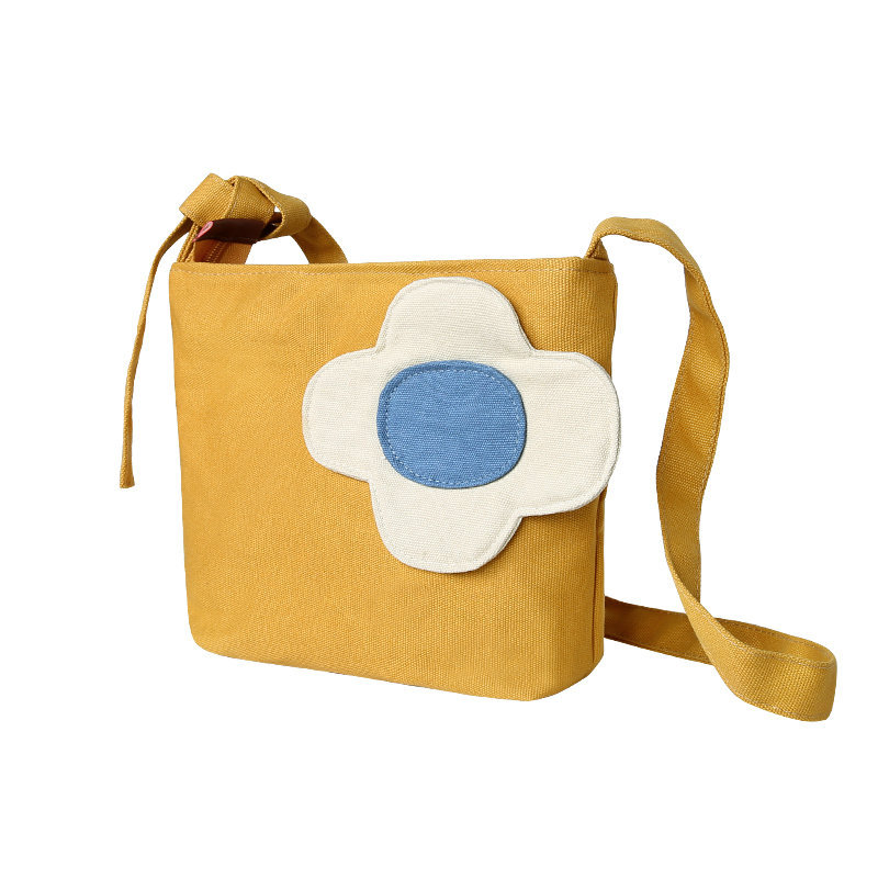 Flower Patch on Small Canvas Bag