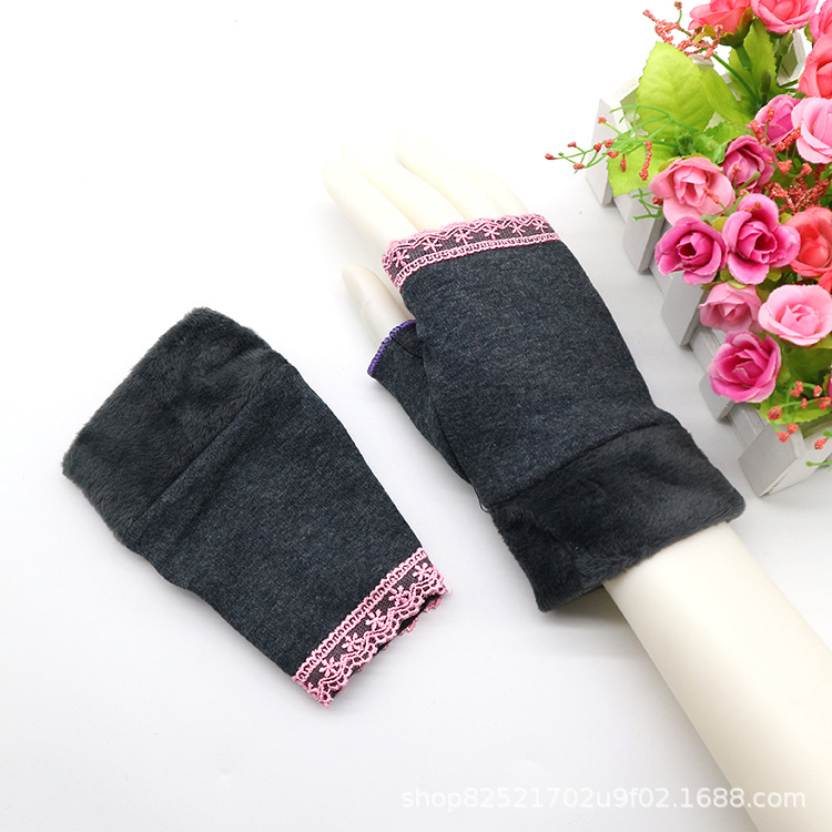 Cozy and Cute Fingerless Half-Fingered Gloves for Students School Writing