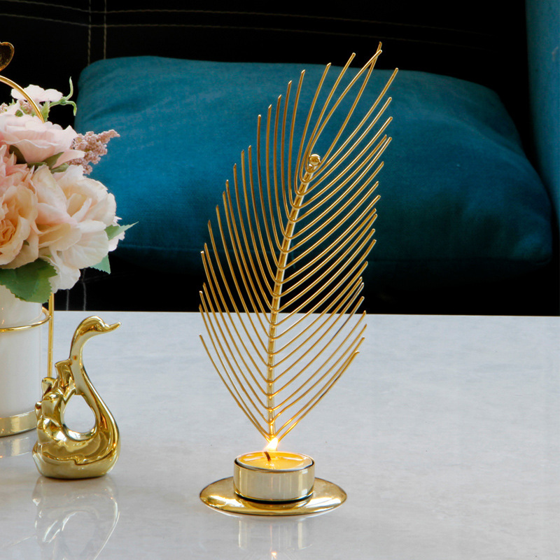 Study Metal and Iron Candle Holder for Posh Dinner Celebration