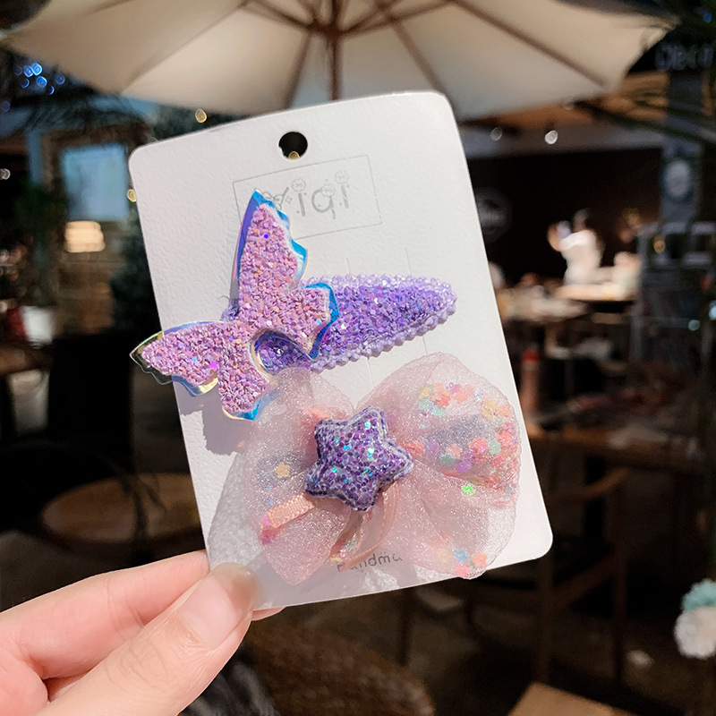 Purple Fairy Hair Clip Pair