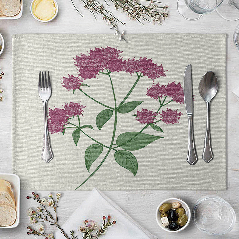 Beautiful Flower Design Placemat for Nice-Looking Dining Tables