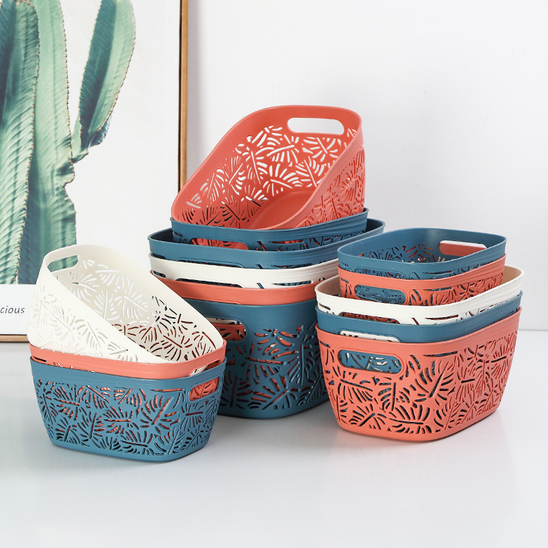 Thickened Plastic Storage Basket for House Warming Gift