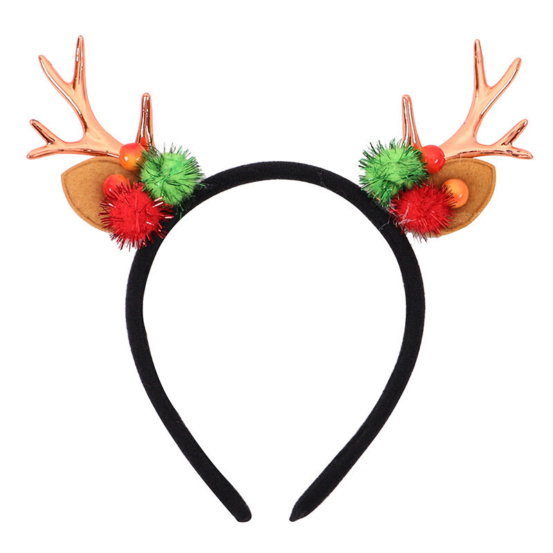 Adorable Christmas Reindeer Antlers Headband for Holiday Events
