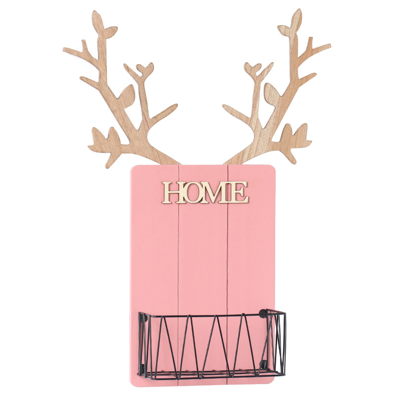 """""""HOME"""" Creative Antlers Shelf for Organizing Accessories"""
