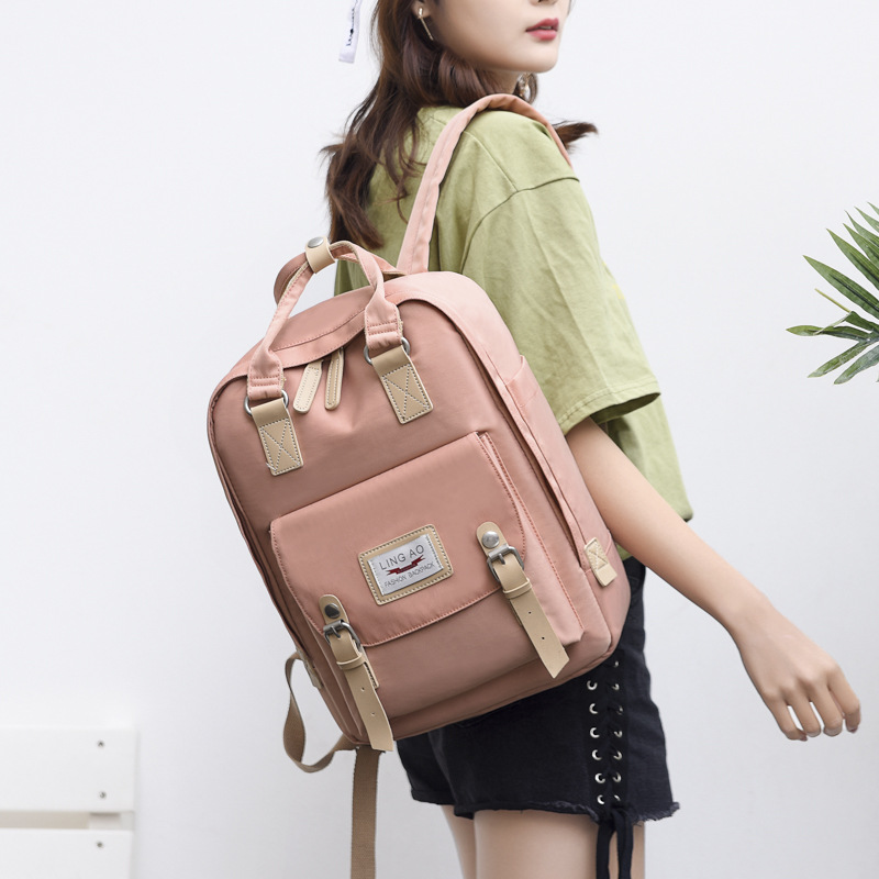 Pastel-Colored Multifunctional Backpack for Babies Traveling Essentials