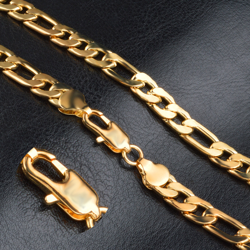 Copper Figaro Chain Necklace for Glamorous Outfits