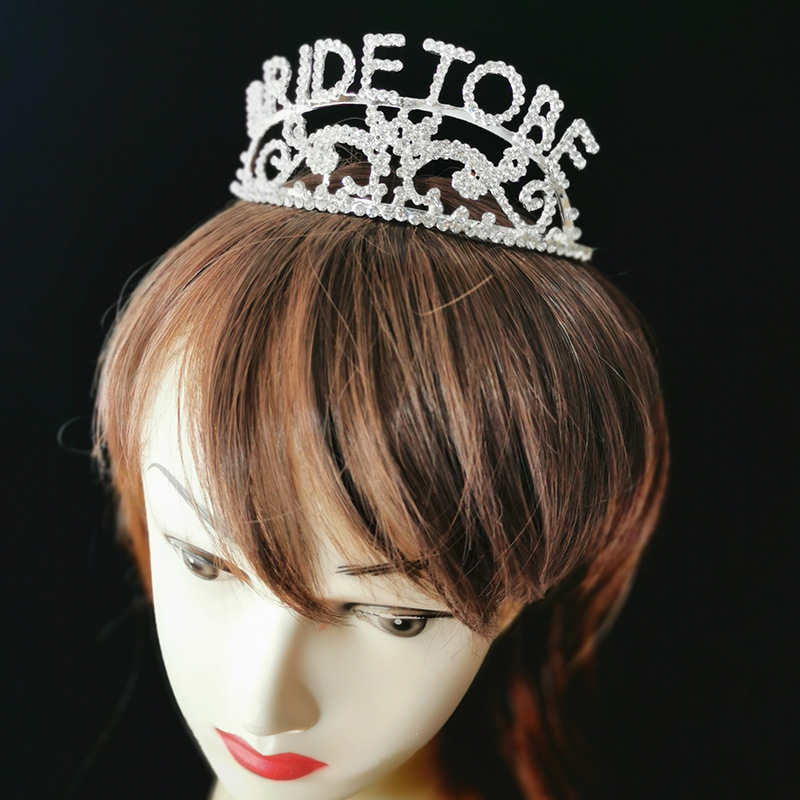 Adorable BRIDE TO BE Headband Designed with Artificial Rhinestones for Bachelorette Party