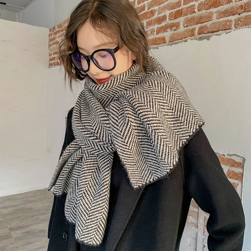 Intricate Chevron Pattern Scarves for Posh and Polished Looks