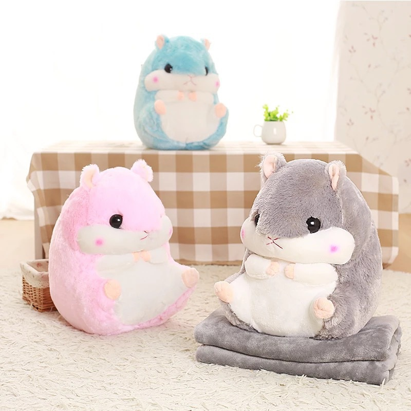 Adorable Hamster Pillow Blanket for Home Use